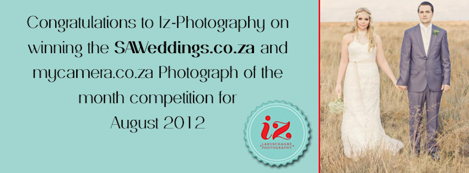 SAWedding's & MyCamera.co.za photograph of the month of August 2012